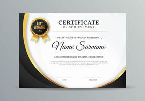 Modello di certificato vettore