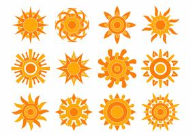 Vettore di raccolta sole