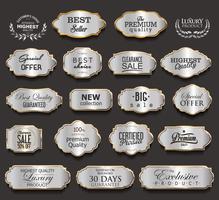 Collezione di elementi di design in oro e nero di lusso