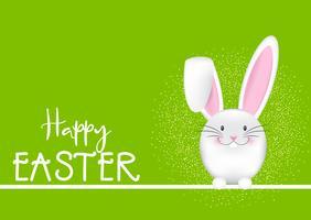 Buona Pasqua sfondo con coniglietto vettore