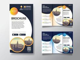 modello di brochure ripiegabile per il marketing promozionale vettore
