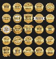 distintivi vintage retrò illustrazione vettoriale raccolta d'oro