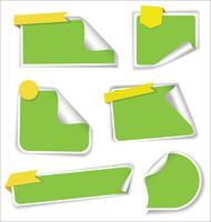 Collezione di adesivi vendita con angoli arrotondati vettore