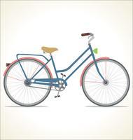 Retro bicicletta dell'annata isolata su priorità bassa bianca vettore