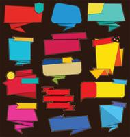 Collezione di adesivi e tag vendita moderna colorata vettore