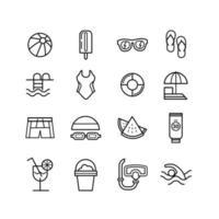 collezione di icone di nuoto vettore