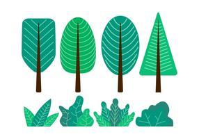 Illustrazione stabilita di vettore di clipart dell'albero
