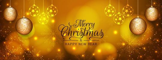 Modello astratto banner decorativo di buon Natale vettore