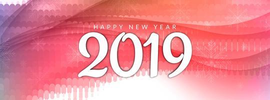 Modello di banner elegante nuovo anno 2019 astratta