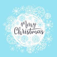 Disegni di lettering Merry Christmas. Elementi vettoriali