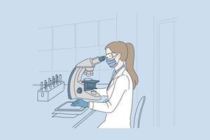 salute, scienza, concetto di medicina. vettore