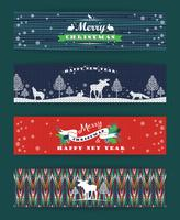 Set di Natale e Capodanno. Sfondi a maglia. vettore