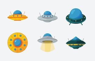 icona forma ufo vettore