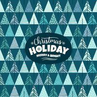 Illustrazione geometrica astratta con alberi di Natale. Design moderno astratto
