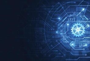 astratto sfondo digitale con struttura del circuito di tecnologia. illustrazione della scheda madre elettronica. comunicazione e concetto di ingegneria. illustrazione vettoriale