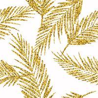 Modello esotico senza soluzione di continuità con sagome di foglie di palma. vettore