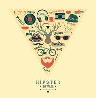 Illustrazione vettoriale di design piatto di stile hipster.