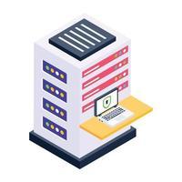 server e archiviazione laptop vettore