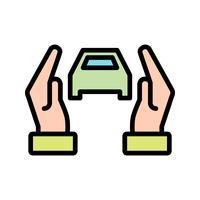 Icona di vettore di assicurazione auto