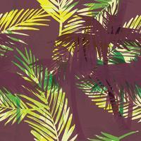 Modello esotico senza cuciture con foglie di palma.