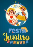 Festa latinoamericana, la festa di giugno del Brasile. Illustrazione vettoriale