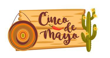 Cinco de Mayo. Illustrazione vettoriale