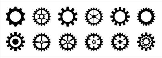 set di icone dell'ingranaggio, logo delle icone dell'ingranaggio, vettori dell'ingranaggio,