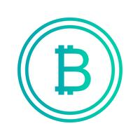 Icona di vettore di Bitcoin