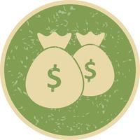 Icona di vettore di borse di denaro