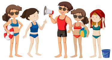 Un gruppo di giovani in spiaggia