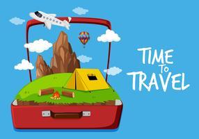 Icona del tempo di viaggiare vettore