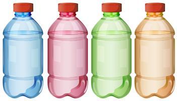 Bottiglie di acqua potabile sicura vettore