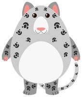 Leopardo con corpo rotondo