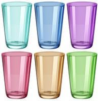 Bicchieri trasparenti vettore