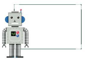 Una bandiera bianca moderna del robot vettore