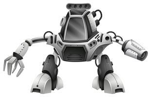 Un robot moderno su sfondo bianco