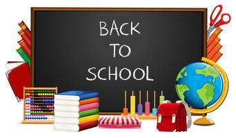 Ritorno a scuola ed elementi vettore
