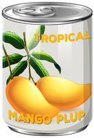 Una lattina di Mango Plup vettore