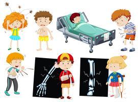 Bambini con malattie diverse