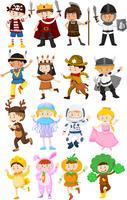 Bambini in costumi diversi