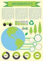 Infochart che mostra il pianeta Terra vettore
