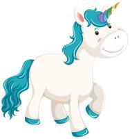 Un unicorno su sfondo bianco
