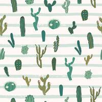 Vector seamless con cactus. Texture ripetuta con cactus verde.
