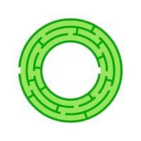 labirinto rotondo astratto. gioco per bambini. puzzle per bambini. un ingresso, un'uscita. enigma del labirinto. illustrazione vettoriale piatto isolato su sfondo bianco.