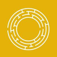 labirinto rotondo astratto. gioco per bambini. puzzle per bambini. un ingresso, un'uscita. enigma del labirinto. illustrazione vettoriale piatto isolato su sfondo colorato.