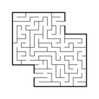 labirinto quadrato di colore. gioco per bambini. puzzle per bambini. enigma del labirinto. illustrazione vettoriale piatto isolato su sfondo bianco. con posto per la tua immagine.