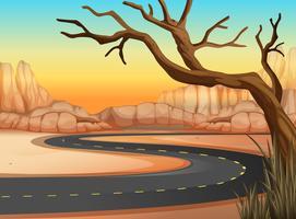 Viaggio in strada verso la terra occidentale vettore