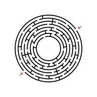 labirinto astratto. gioco per bambini. puzzle per bambini. enigma del labirinto. illustrazione vettoriale. vettore
