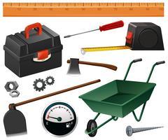 Strumenti di costruzione e giardinaggio vettore