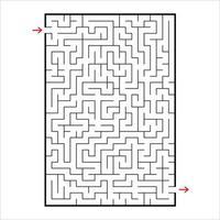 labirinto rettangolare astratto. gioco per bambini. puzzle per bambini. un ingresso, un'uscita. enigma del labirinto. semplice illustrazione vettoriale piatto isolato su sfondo bianco.